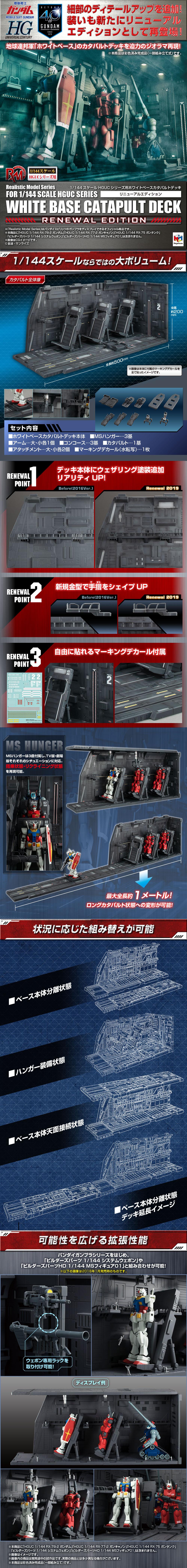 その他 ホビー商品Realistic Model Series 機動戦士ガンダム 1/144 HGUC用 ホワイトベース カタパルトデッキ Renewal edition